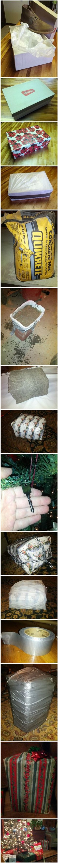 Funny Pictures - How to Properly Wrap a Present This is how your presents will be wrapped from now on @Thomas Shirley