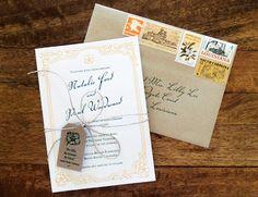 Magnolia Wedding Invitations by Harken Press via Oh So Beautiful Paper (5)