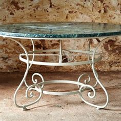 19th Century Parisian Table with Marble Top - Decorative Collective