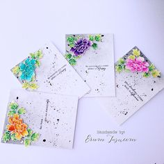 Altenew Peony Scrolls. Watercoloured using distress inks. *VIBGYOR Krafts*: Watercoloring my heart out!