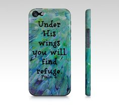 Under His Wings iPhone 4 4S or 5 5S 5C Hard Case by EbiEmporium, $40.00  #God #Bible #Biblical #Holy #Lord #Praise #Inspiration #Proverbs #Scripture Religious Christian God iPhone Case, Biblical Verse Jesus Christ Cell Phone Case