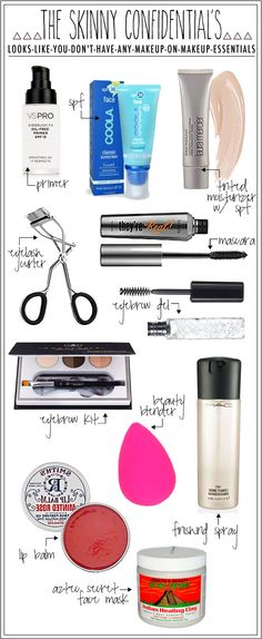 The Looks-Like-You-Don't-Have-Any-Makeup-On Makeup Essentials - The Skinny Confidential