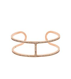 Shop Michael Kors Rose Gold Tone Brillance H Link Cuff at Your Navy Exchange. You Serve, You Save on the best brands and products in GRAVEYARD - Jewelry & Watches. Bracelet Michael Kors, Bijoux Michael Kors, Michael Kors Rose Gold, Rose Jewelry, Jewelry Bracelets, Bangle Bracelet, Bangles, Or Rose, Fashion Accessories