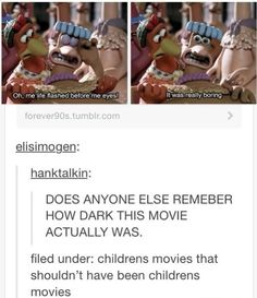 I could never watch this film it scared me too much.