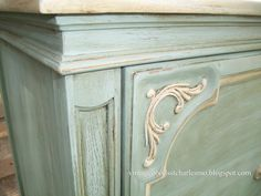 """""""Vintage Goods"""": French Bureau - Duck Egg and Old Ochre.  So Pretty!"""