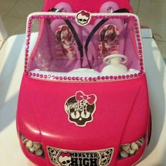 Made a monster high car for my daughter