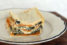 Coconut & Lime: Butternut Squash & Swiss Chard White Lasagna - Use nut or soy cheeses to make Vegan and Gluten free lasagna and flour for GF.