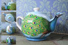 Peacock Teapot by lotjeoef