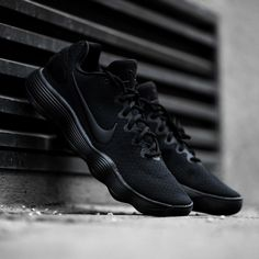 5b04607253470 The blacked out Nike Hyperdunk 2017 Low with REACT cushioning system is  available now on KICKZ.com and in selected stores! Rock them on and off the  court!