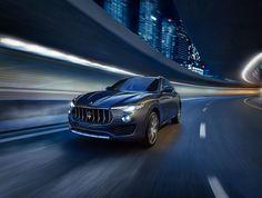 A dynamic, modern drive. Flashing through the Dubai night.