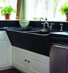 Joanne's own marvellous soapstone sink:  Susan Teare Photography, excerpts from Salvage Secrets, Transforming Reclaimed Material Into Design Concepts, by Joanne Palmisano (W.W. Norton, Publisher)