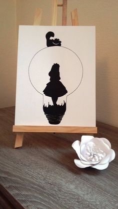 """Poster Illustration black and white bulb """"alice in Wonderland country"""" Mini Drawings, Art Drawings Sketches Simple, Pencil Art Drawings, Beautiful Drawings, Disney Drawings, Disney Drawing Tutorial, Watercolor Paper, Alice In Wonderland, Pop Art"""