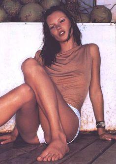 """""""Kate Kicks Back"""", Allure US, December 1999 Photographer : Rankin Model : Kate Moss"""