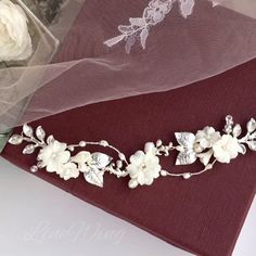 Wedding hair pieces with flowers. Bridal hair pieces - A lovely hair accessory for the best bro. Flower Headpiece Wedding, Bridal Headpieces, Bridal Flowers, Bridal Hair Pins, Wedding Hair Pieces, Floral Hair, Wedding Hair Accessories, Marie, Hair Accessory