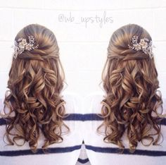 Stunning half up half down wedding hairstyles ideas no 94