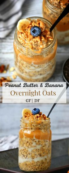 Thick and creamy Peanut Butter Banana Overnight Oats without yogurt are a delicious easy to make ahead gluten free healthy meal prep breakfast. Kid friendly and made with simple ingredients. A filling breakfast that is sure to be on rotation. #overnightoats #mealprep #breakfast #easyrecipe #glutenfreerecipes #peanutbutter #banana Nutritious Breakfast, Savory Breakfast, Make Ahead Breakfast, Healthy Breakfast Recipes, Healthy Meal Prep, Breakfast Ideas, Peanut Butter Roll, Peanut Butter Banana, Creamy Peanut Butter