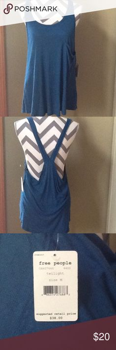 NWT Free People Tank Twilight blue tank from Free People. Brand new. Free People Tops Tank Tops