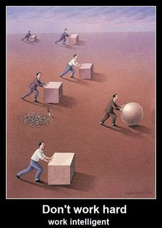 Arbeite klug, nicht hart - Win Bild - Webfail