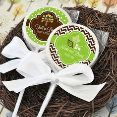 Personalized Fall Lollipop Favors Set of 24 by NspireDesign