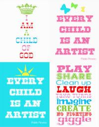 CUTE PRINTABLES!!! For toy room or kids room???
