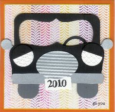 Car by ruby-heartedmom - Cards and Paper Crafts at Splitcoaststampers Paper Punch Art, Punch Art Cards, Craft Punches, Fathers Day Cards, Kids Cards, Baby Cards, Masculine Cards, Cute Cards, Paper Piecing