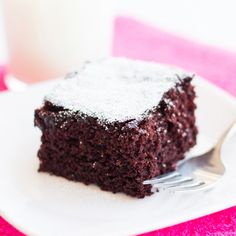This Egg-free, Dairy-free Chocolate Cake is perfect for people with egg and milk allergies. Moist and delicious, you'd never know it's allergy-friendly!