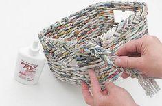 cesta organizadora de jornal