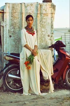 said mahrouf. Brownbook Magazine issue 45. #middleeast #maroc #casablanca #shirtdress #oversizepants