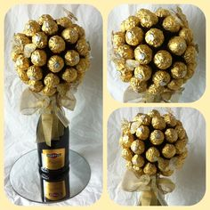 Ferrero favourite tipple tree. This would be great with Baily's Irish Cream bottle.