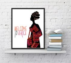 African art Natural ethnic fashion Welcome by InstantDownloadArt1