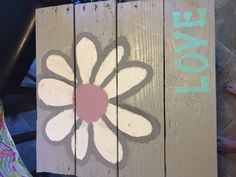 Flower Love Pallet Painting