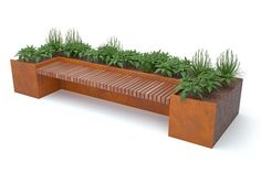 Your outdoor space can achieve the desired mix of inspirational design and functionality with Kinley's high quality, timber benches. Deck Planters, Planter Bench, Patio Bench, Modern Planters, Indoor Planters, Planter Boxes, Cheap Planters, Succulent Planters, Concrete Planters