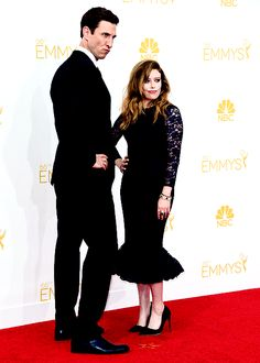 Orange Is The New Black:  Pablo Schreiber and Natasha Lyonne at the 66th Annual Primetime Emmy Awards.