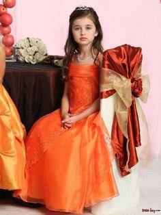 Junior Bridesmaid Dresses Yellow Flower Girl Dresses, Wedding Flower Girl Dresses, Flower Girl Tutu, Little Girl Dresses, Wedding Party Dresses, Nice Dresses, Girls Dresses, Amazing Dresses, Orange Bridesmaid Dresses