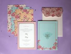 Chap and chapette indian wedding invitations pinterest indian a floral invite for arti anuj by october design solutions mumbai stopboris Gallery