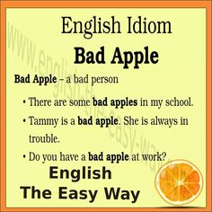 I do not like bad _______. 1. apples 2. people  3. both   #EinglishIdiom