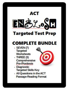 10 best act test prep images on pinterest reading passages act english prep bundle targeted and comprehensive practice fandeluxe Gallery