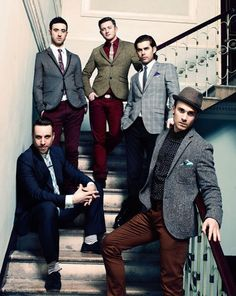 The Overtones- Timmy (back middle), Mark (back left), Mike (back right), Darren (front right) and Lachie (front left)