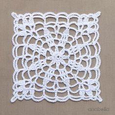 Crochet lace motifs free patterns by Anabelia Craft Design