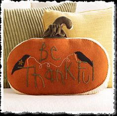 Felted Wool Pumpkin Pillow ♥ http://felting.craftgossip.com/2014/08/29/pretty-pumpkin-tablecloth-for-fall-felted-wool-pumpkin-pillow-tutorials/