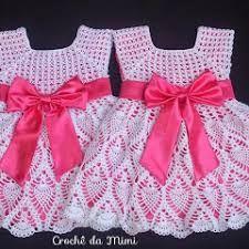 Image result for vestido de croche para bebe com grafico