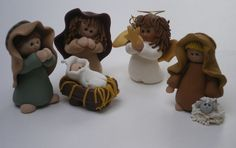 Polymer Clay Christmas Nativity Jesus Joseph and by HelensClayArt, $59.99