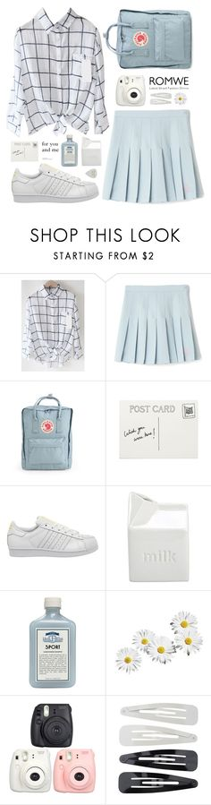 """for you and me"" by smollbambi ❤ liked on Polyvore featuring Fjällräven, adidas, BIA Cordon Bleu, John Allan's, Fujifilm, Forever 21, white, romwe, lightblue and square"