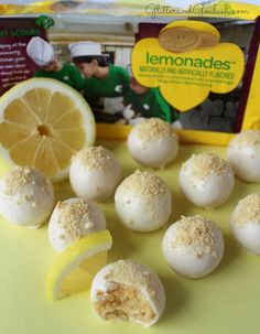 Girl Scout Lemonades Cookie Truffles - Glitter and Goulash Lemonade Girl Scout Cookies, Girl Scout Cookies Flavors, Candy Recipes, Sweet Recipes, Cookie Recipes, Dessert Recipes, Girl Scout Cookie Meme, Girl Scout Cookie Sales, Finger Foods