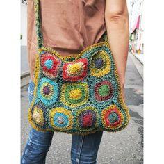 Hemp crochet shoulder bag C - bag, bag - [garitto]