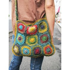 Hemp crochet shoulder bag C - bag, bag - [garitto]