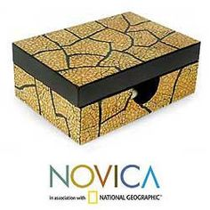This handmade creation is offered in partnership with NOVICA, in association with National Geographic. Inlaid on black lacquer, an eggshell mosaic brings fascinating textures to this decorative box. Cleaning Sea Shells, Eggshell Mosaic, Decoupage, Pistachio Shells, Egg Shell Art, Boxes And Bows, Mdf Wood, Egg Decorating, Egg Shells