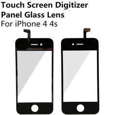Giá rẻ Đen/Trắng Màn Hình Cảm Ứng Digitizer Bảng Điều Chỉnh Display Front lens glass cho iphone 4 4 s thay thế repair part miễn phí vận vận chuyển