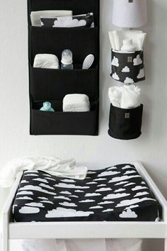 How to choose best changing table for baby Changing tables for your baby\'s nursery may not be the first thing on your list to purchase, but after the crib, it will be the most used furniture in the room. Baby Bedroom, Baby Boy Rooms, Baby Room Decor, Baby Boy Nurseries, Nursery Room, Room Baby, Bedroom Kids, Black White Nursery, Black And White Baby