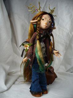 Sophie - Deer Child - OOAK art doll by ~mammalfeathers on deviantART